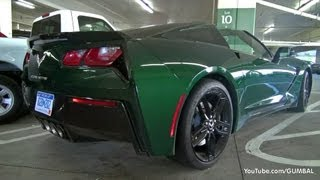 2014 Corvette C7 Stingray in Lime Rock Green!