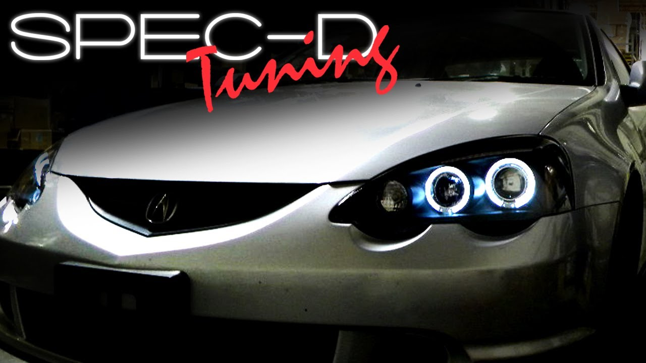 small resolution of specdtuning installation video 2002 2004 acura rsx projector head lights youtube