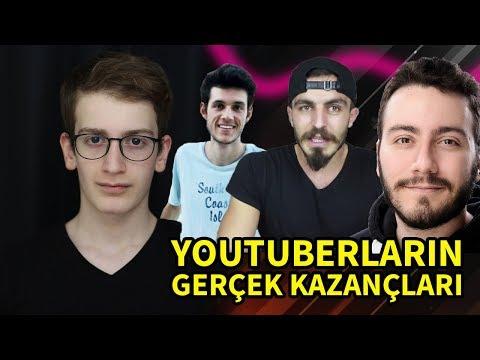 YOUTUBERLARIN GERÇEK KAZANÇLARINI