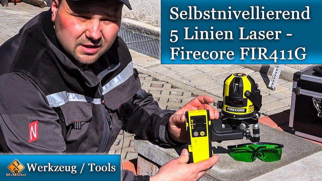 Firecore Professional 5 Linien und Plumb Laser FIR411G IM Koffer