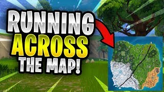 I RAN ACROSS THE ENTIRE MAP WITHOUT TAKING DAMAGE! | Fortnite Battle Royale