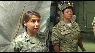 Житомир. США подарили Украине полевой госпиталь. Военные 1