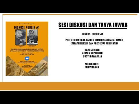 Rekaman Part II - Diskusi Publik Rencana Pabrik Semen Matim