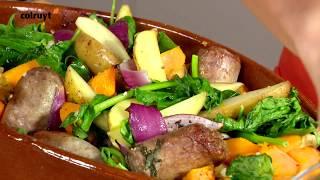 Recept Ovenschotel met aardappel, kastanjepompoen en worst - Colruyt