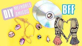 DIY COLAR DA  AMIZADE TUMBLR 👽 6 ideias com CD e mais feat SUELEN CANDEU