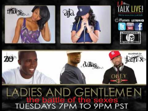 Ladies and Gentlemen - Battle of the Sexes on LA Talk Live