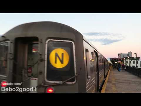 NYC Subway: BMT R68 (N) & R160 (Q) Train at Broadway (31st St, Qns)
