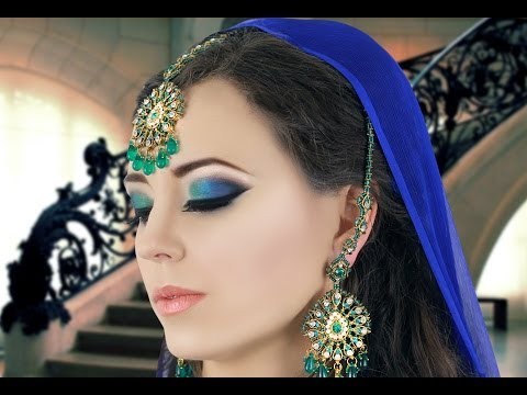 Green and Blue Smokey Eye Makeup Tutorial