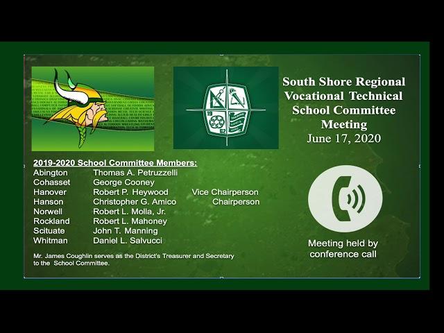 SSVT School Committee; June 17, 2020