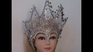 DIY/МК /Как сделать новогоднюю корону для Снежной Королевы