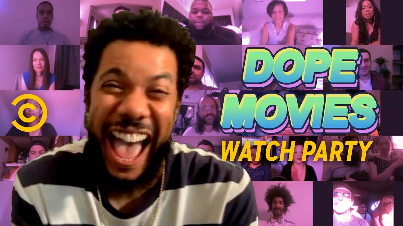 Clayton English Hosts a High Watch Party - Dope Movies