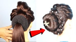 New style party bun hairstyle || bridal hairstyles || prom hairstyles || wedding guest hairstyles
