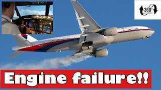 What pilots do when an engine fails! (Full HD, look around!)
