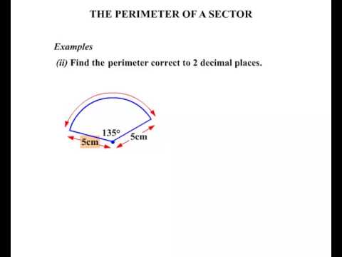 how to find the perimeter of a sector
