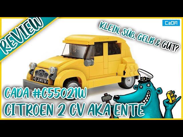 Cada Citroen 2CV #C55021W: Reichen 300 Teile für eine süße, gelbe Ente?