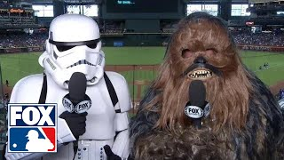 A Stormtrooper and Chewbacca invade D-backs game