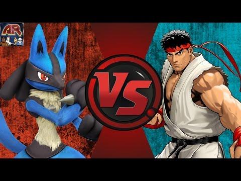 LUCARIO vs RYU! (Pokémon vs Street Fighter) Cartoon Fight Club Episode 117 - 동영상