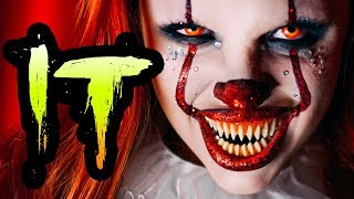 IT PENNYWISE GLAM HALLOWEEN MAKEUP TUTORIAL thumbnail