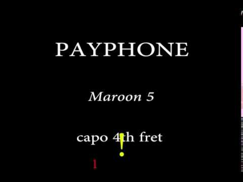 Payphone -Maroon 5 (Easy Chords and Lyrics) 4th Fret