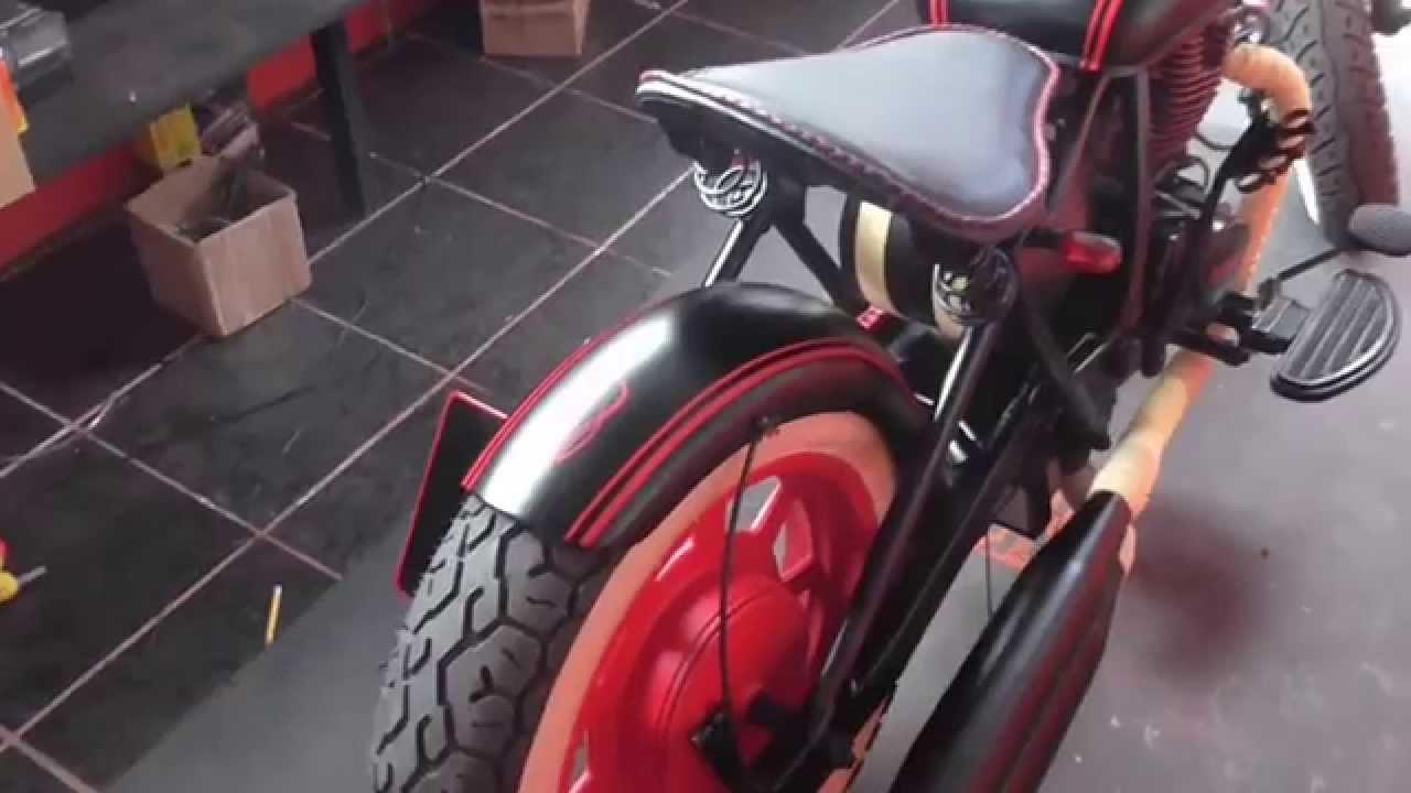 Muscle custom chopper estudio de dise o moto bobber style for Disenos de motos