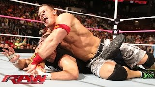 John Cena vs. Dean Ambrose - No Holds Barred Contract on a Pole Match: Raw, Oct. 13, 2014 thumbnail