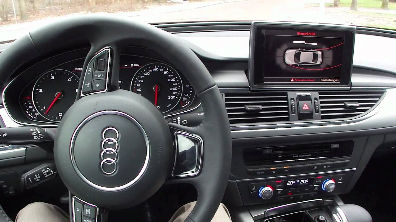 2012 audi a6 - park assist - youtube