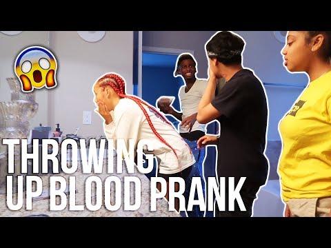 THROWING UP BLOOD PRANK On BOYFRIEND (MUST WATCH)