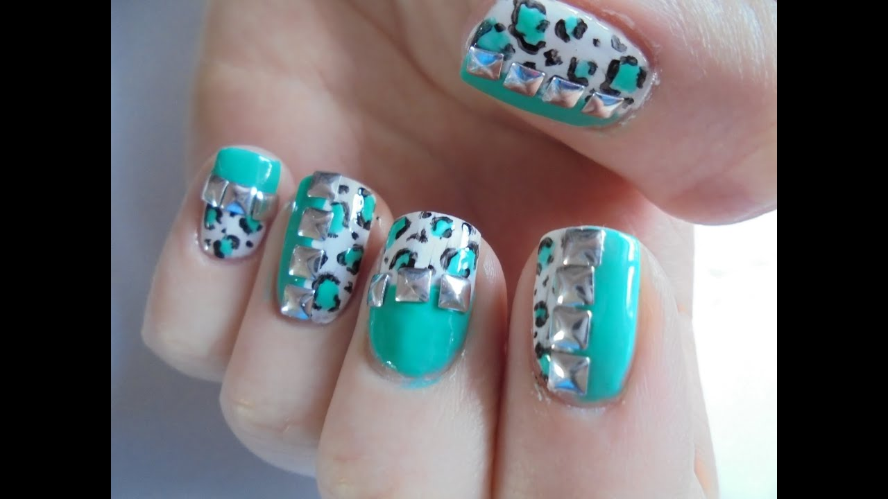 Turquoise leopard print with studs easy glow in the dark ...