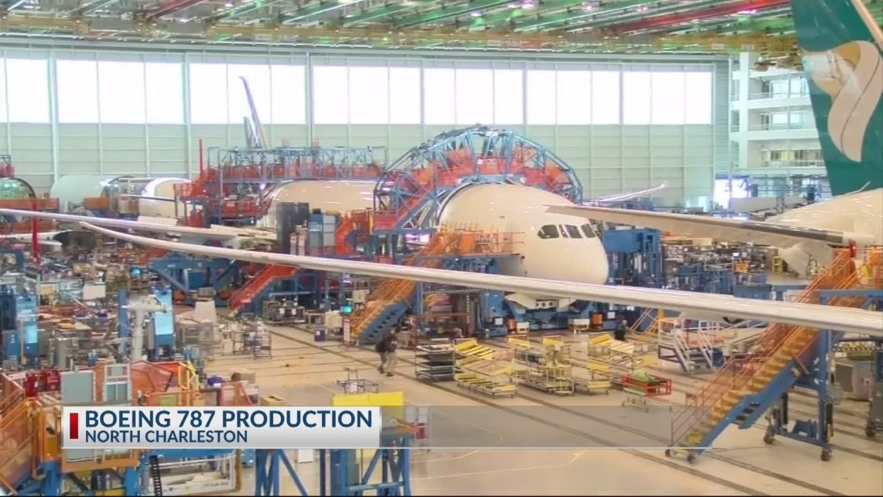 Boeing to move 787 Production to SC - YouTube