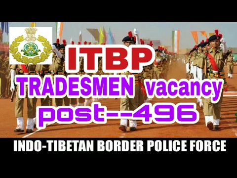 ITBP Tradesmen new vacencies !! All india candidates  apply  this post !!