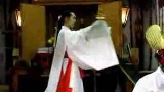 "Japanese priestess ""Miko"" dance"