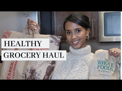 HEALTHY GROCERY HAUL: Trader Joe's, Wholefoods & Costco