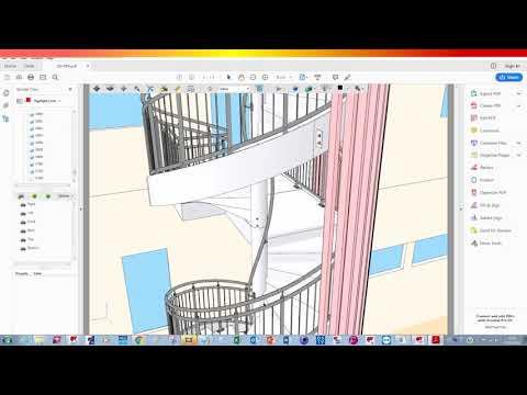 TeklaAcaD 3D BIM - TEKLA Structure - Publish To 3D-PDF And Export Tekla BIMsight OUTPUT