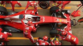 Sebastian Vettel pit stop in slow motion - 2016 Barcelona Test 2, Day 2