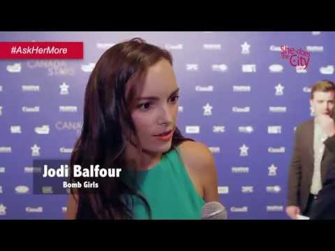 Jodi Balfour chats about Bomb Girls & gender roles in Canada  Full  by She Does the City