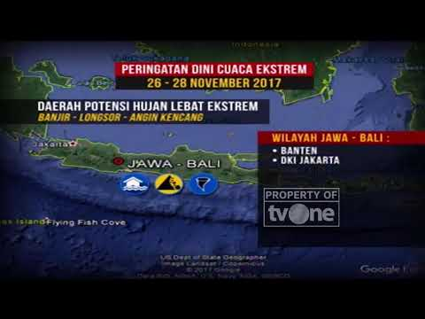 Peringatan Dini Cuaca Ekstrem BMKG Dari 26-28 November 2017