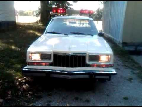1983 Dodge Diplomat Lincoln Police Car 3 Youtube