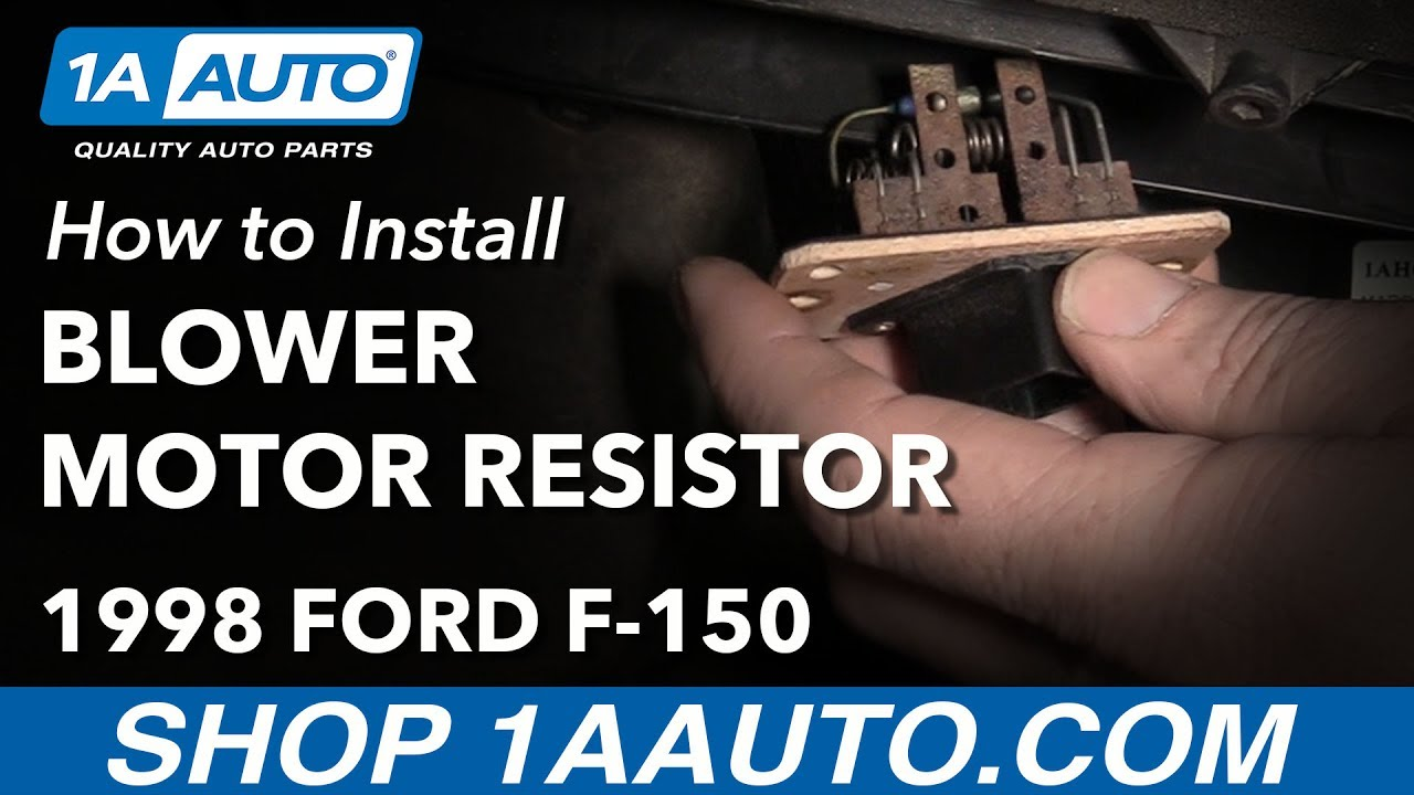 How To Install Replace Blower Motor Resistor 1997 03 Ford F 150 02 E Fuse Diagram