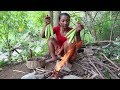 Food my village  Baby corn to grill for food – Cook baby corn eating delicious  01