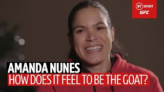 Amanda Nunes on being the GOAT, her obsession with the 'Home Alone' movies, and finding happiness