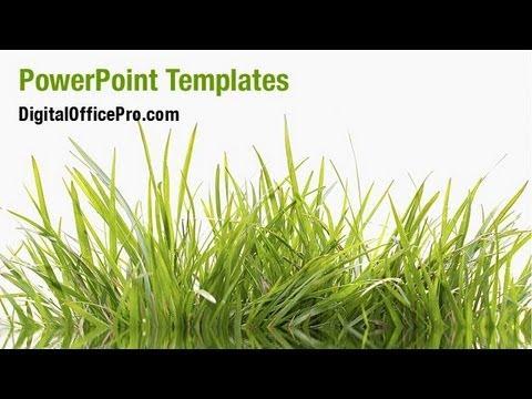 nature grass powerpoint template backgrounds digitalofficepro 05336w