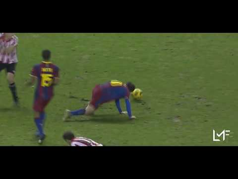 Lionel Messi Refusing To Go Down Or Dive