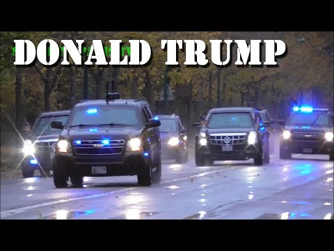President Donald Trump FULL Motorcade 2018 Paris (11-11-18)
