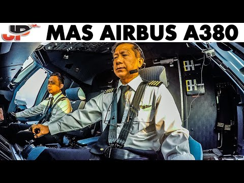 Piloting the A380 into Kuala Lumpur (8 cameras in cockpit)