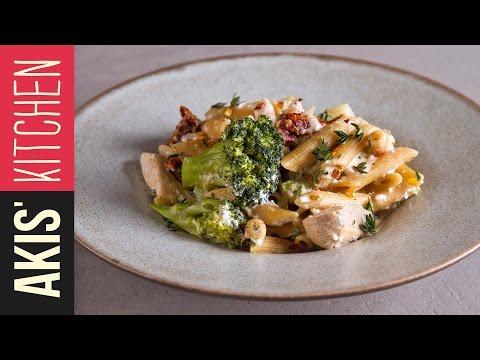 Light Pasta With Chicken & Broccoli | Akis Petretzikis Kitchen