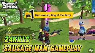 SAUSAGE MAN GAMEPLAY | 24 KILLS - SAUSAGE MAN screenshot 1