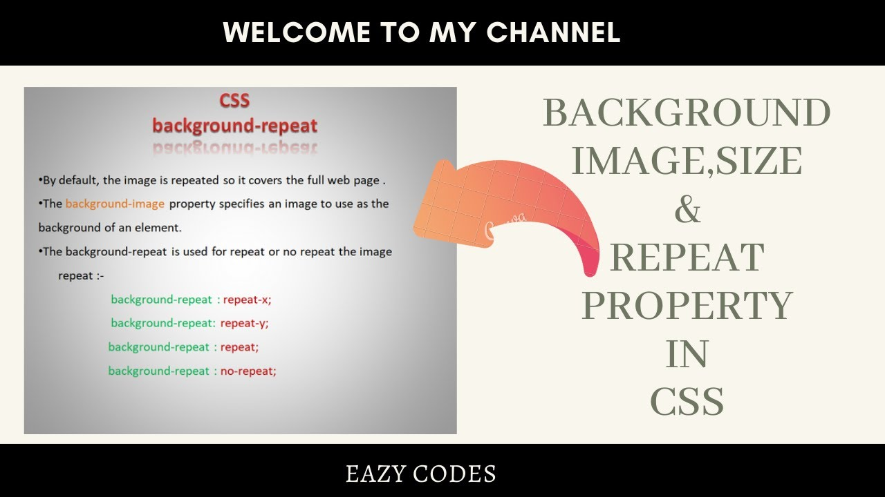 Css3 Background Image Css3 Background Size And Background Repeat Youtube