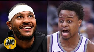 What Carmelo Anthony did to Yogi Ferrell is called