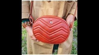 Сумка женская через плечо 4005 caramel red