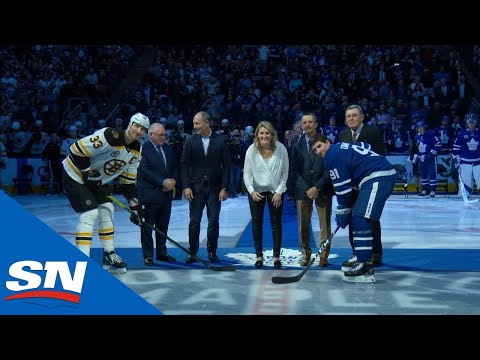 2019 Hockey Hall Of Fame Class Drops Puck At Maple Leafs And Bruins Game